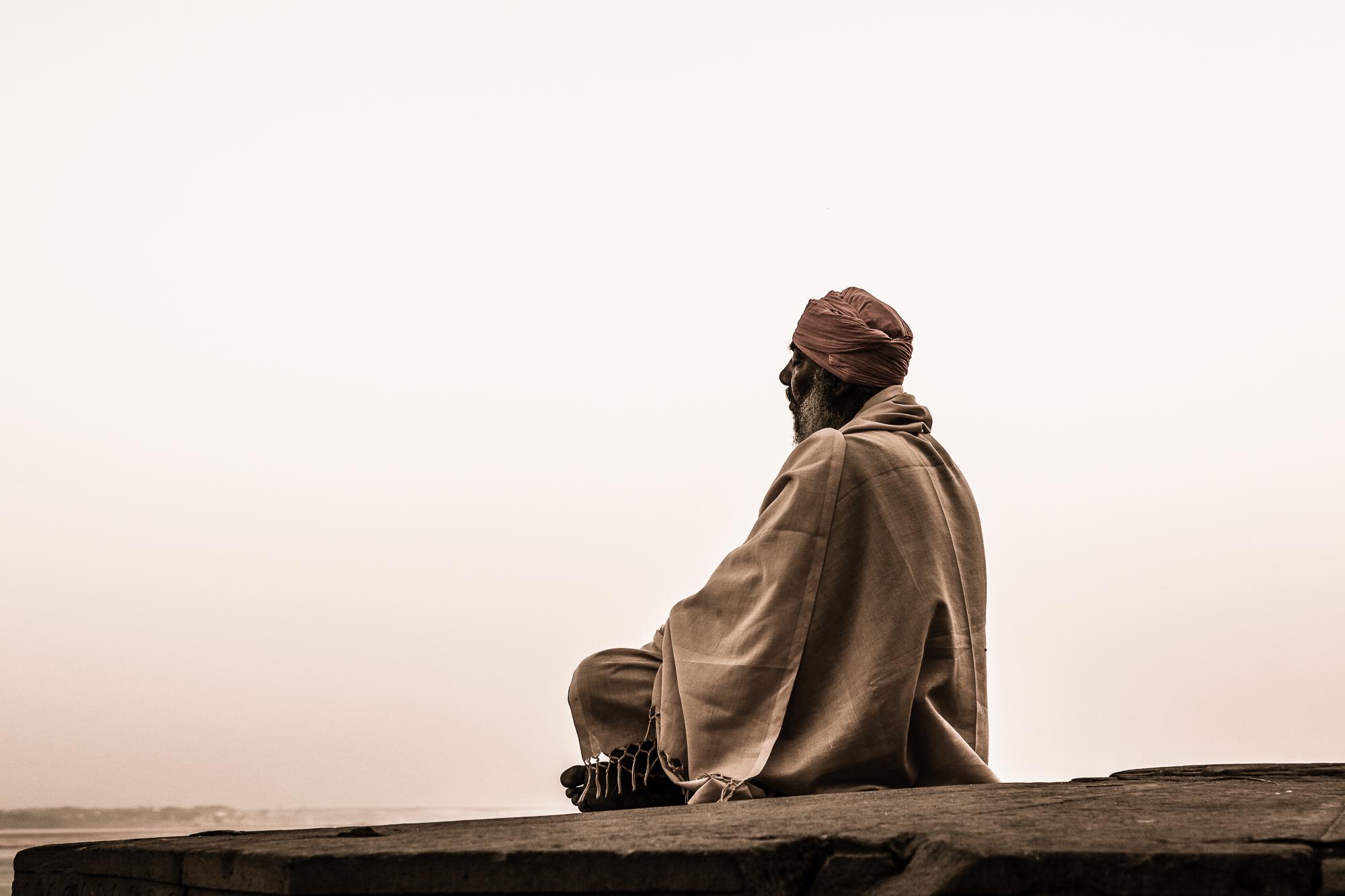 Resting above Ganges, India
