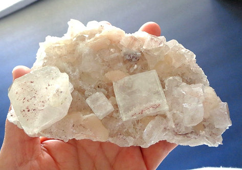 Collectors Specimen Cubic Apophyllite Crystal Cluster with Stilbite