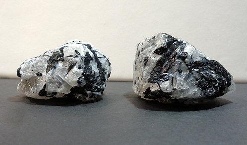 Black Tourmaline In White Quartz Crystal