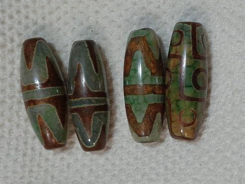 Dragon Veins Agate Column Bead