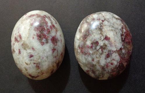 Pink Tourmaline Palm Stones