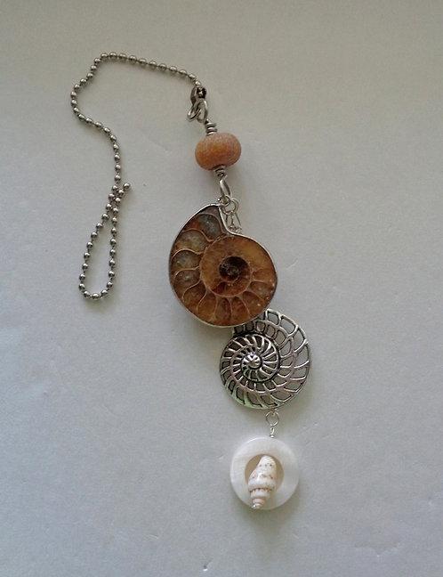 Ammonite Fan or Lamp Chain Pull