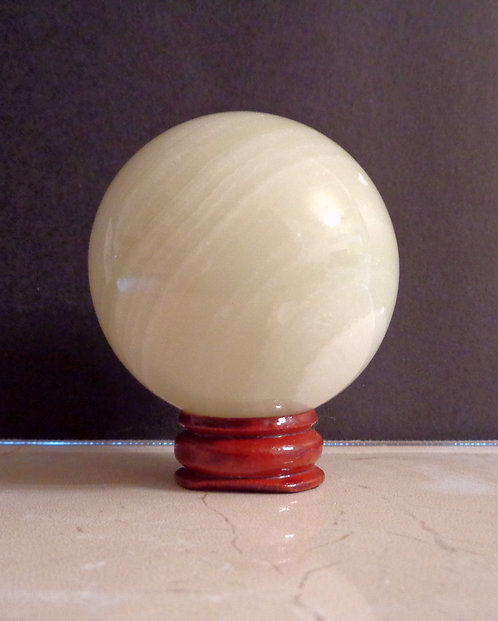 Bowenite Sphere with Stand