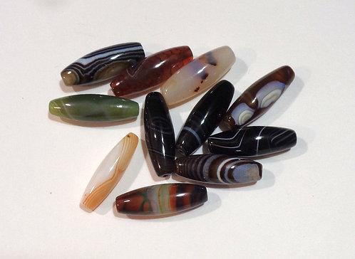 Agate Column Beads