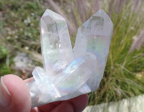 Angel Aura Crystal Cluster, Rainbow Aura Crystal