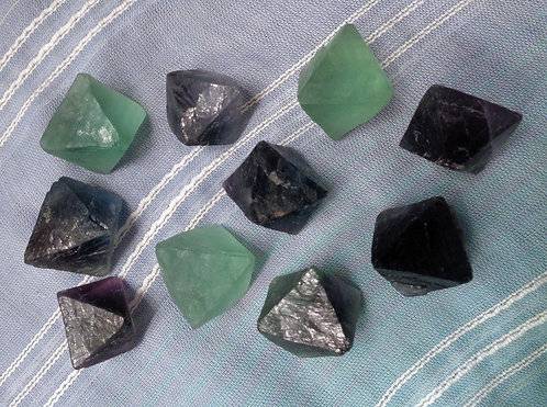 Fluorite Octahedrons, Lot of 5