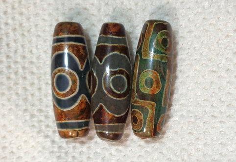 Dragon Veins Agate Column Beads