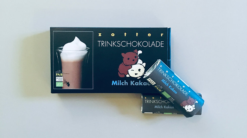 Trinkschokolade Milch-Kakao Packung
