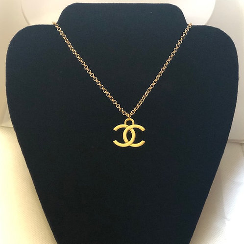 CC Gold Logo Necklace (lighter)