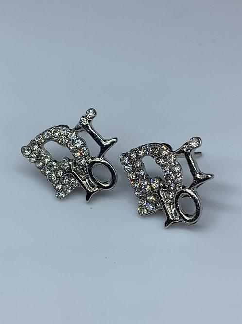 Rhinestone Dior Earrings (Designer Inspired)