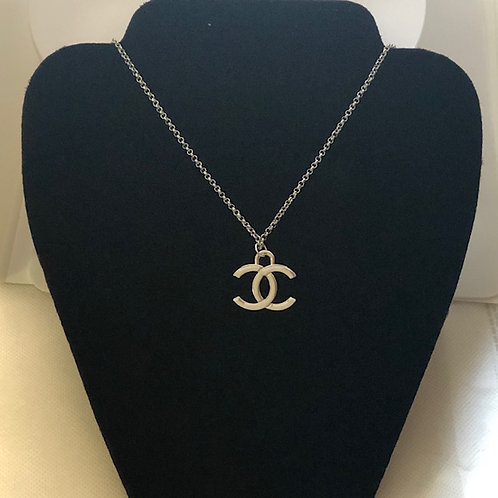 CC Heavy GOLD Pendant Necklace (designer inspired)