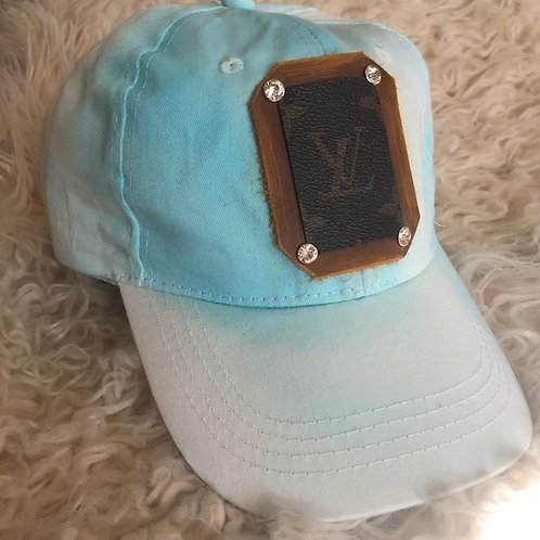 Custom  LV Blue Tie Dye Hat