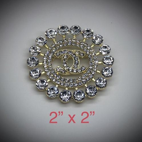 """CC  2""""x2"""" Brooch (Designer Inspired)"""