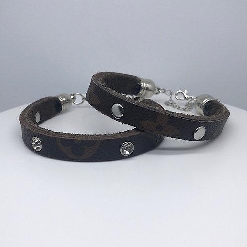 LV Upcycled Bracelet Cuffs