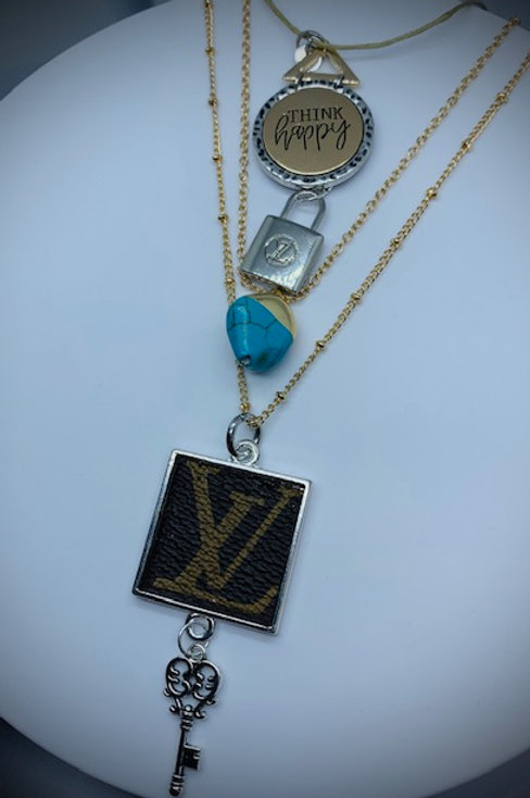 LV multi - layered necklace