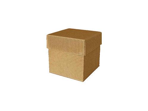 Klára 10 x 10 x 10 cm hnědá 2vvl karton