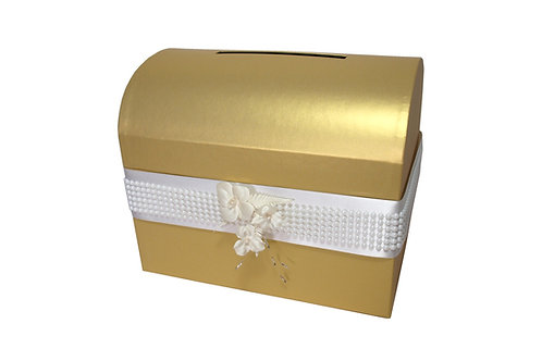 Diana truhla 28x19,5x23 cm zlatá perláž