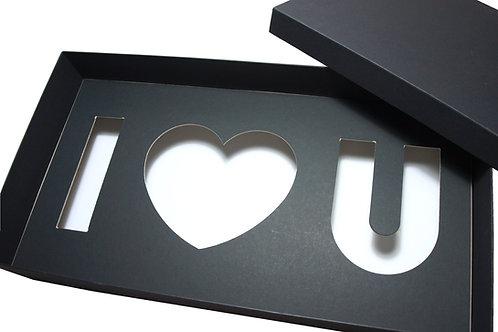 """Krabice """"I ♥ U"""" 50x26,5x10 cm"""