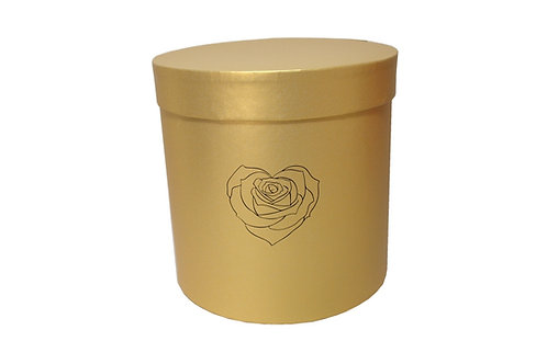 Saskia č.3 průměr 20 v 20 cm zlatá perláž se SRDCEM