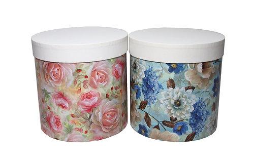 Sofie č.3 průměr 20 v 20 cm modré nebo růžové kytky