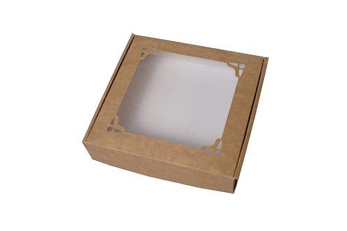 Skládací krabička s ozdobným víkem 15x15x3 cm