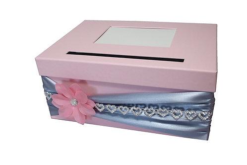 Pokladna Lisa 30,5x21x13,5 cm světle růžová mat