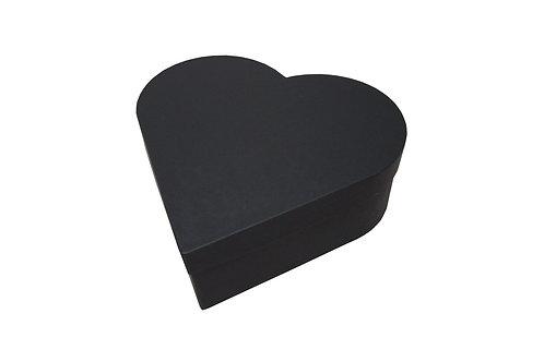 Srdce průměr 26 v 9 cm černá mat