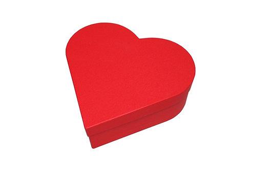 Srdce průměr 26 v 9 cm červená mat