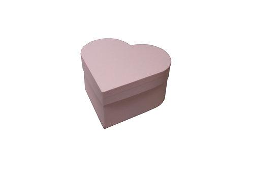 Srdce průměr 18 výška 9 cm světle růžová