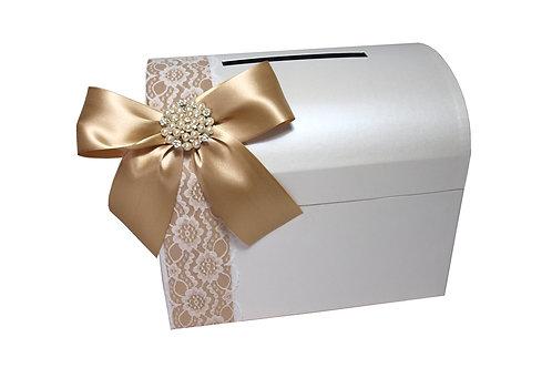 Pokladna Diana 28x19,5x23 cm bílá perláž