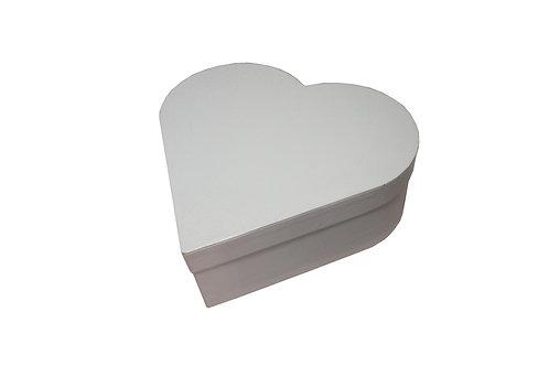 Srdce průměr 23 v 8 cm bílá