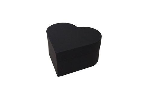 Srdce průměr 18 výška 9 cm černá