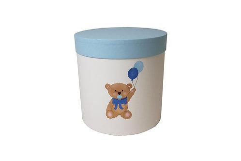 Medvídek s modrým dudlíkem 20v20 cm