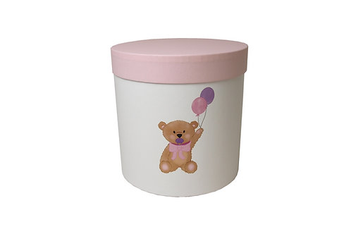Medvídek s růžovým dudlíkem 20v20 cm