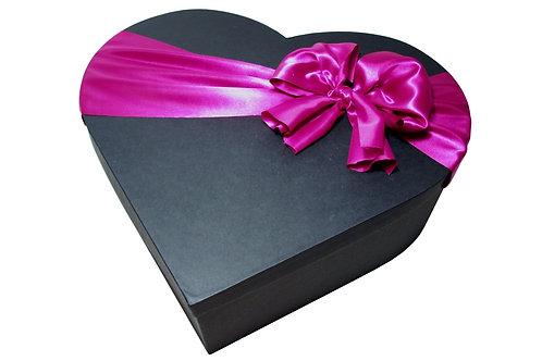 Krabice srdce průměr 45 v 15 cm černá mat