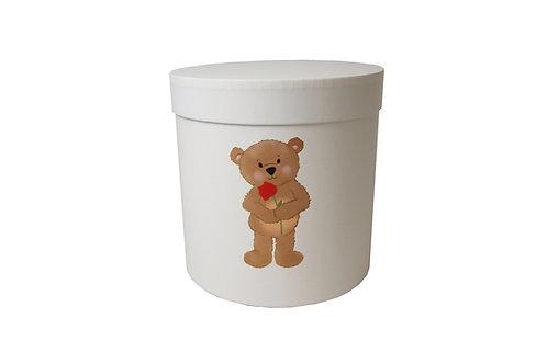 Medvídek s růží 20v20 cm