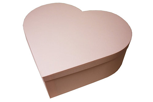 Krabice srdce průměr 45 v 15 cm světle růžová mat