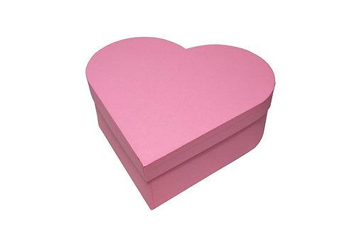 Srdce průměr 26 v 9 cm tmavě růžová mat