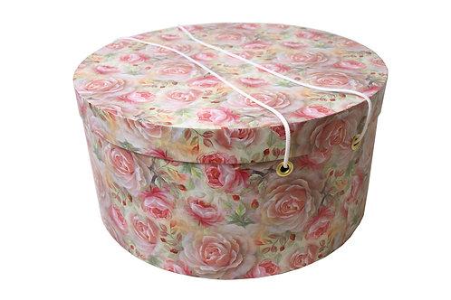 Olivie na klobouky růžové kytky průměr 40 v 20 cm