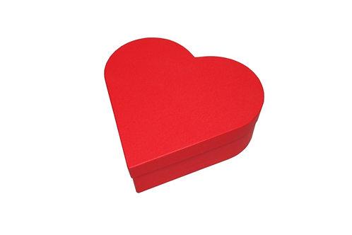 Srdce průměr 23 v 8 cm červená mat