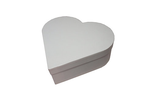 Srdce průměr 26 v 9 cm bílá