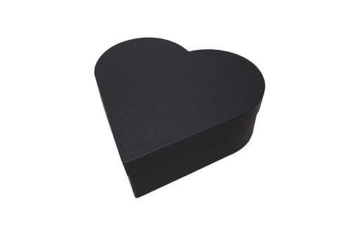 Srdce průměr 23 v 8 cm černá mat
