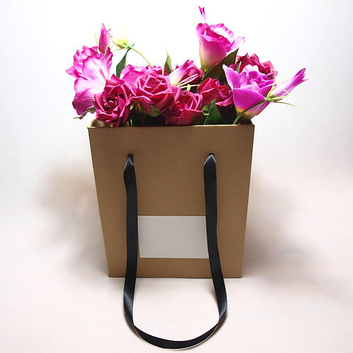 Taška na květiny malá s bílou kartičkou