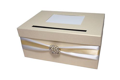 Pokladna Lisa 30,5x21x13,5 cm  smetanová perláž