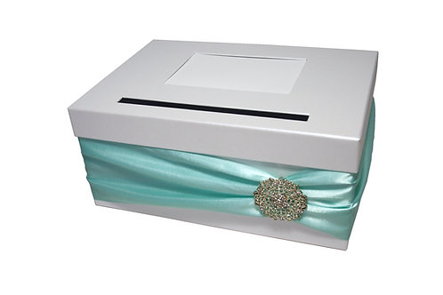 Pokladna Lisa 30,5x21x13,5 cm bílá perláž