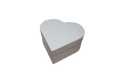 Srdce průměr 18 výška 9 cm bílá