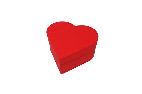 Srdce průměr 18 výška 9 cm červená