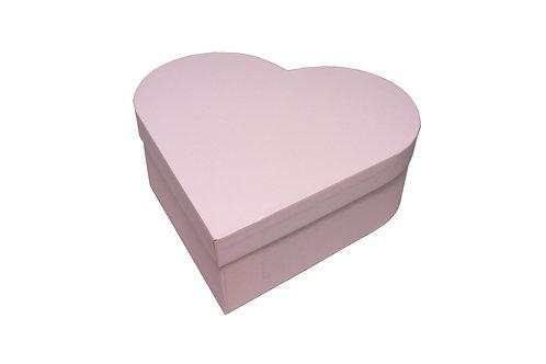 Srdce průměr 26 v 9 cm světle růžová mat