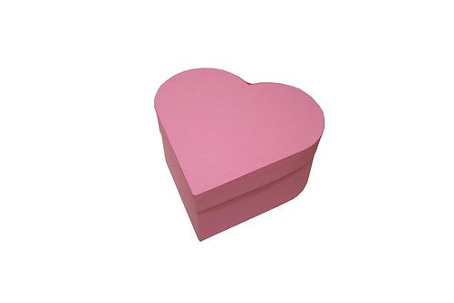 Srdce průměr 18 výška 9 cm tmavě růžová