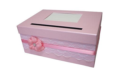 Pokladna Lisa 30,5x21x13,5 cm růžová perláž